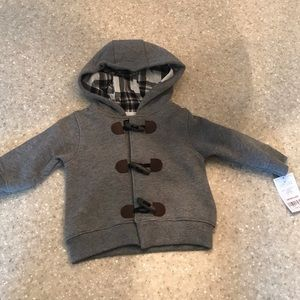 Adorable brand new Carter's gray hooded sweatshirt